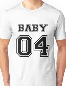 Numbered FAMILY : BABY 04 BLACK Unisex T-Shirt