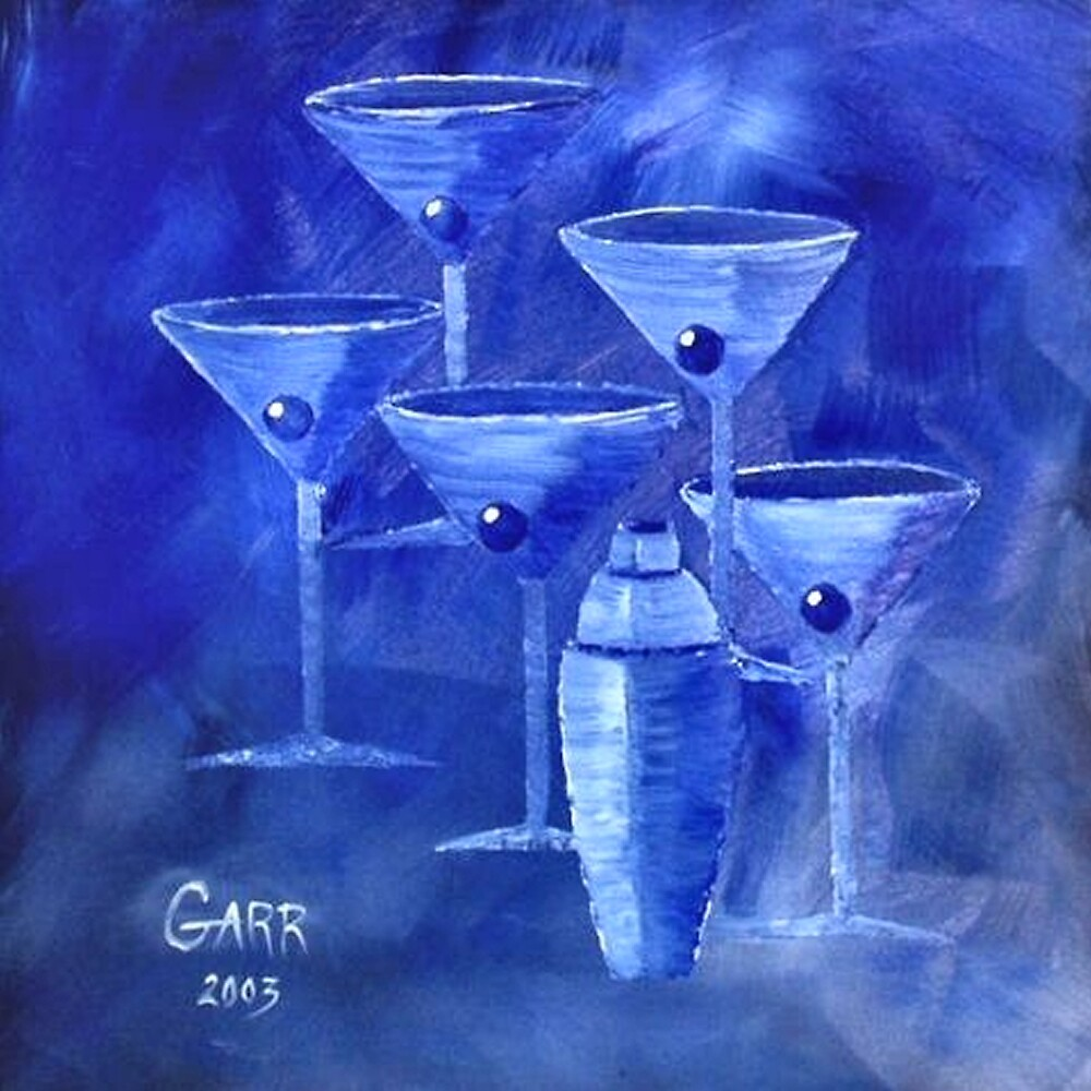 Blue Martini's by Peggy Garr