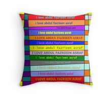 i love him too much:) Throw Pillow