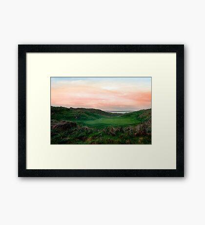 lush green Ballybunion links golf course Framed Print