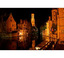 Rozenhoedkaai (Bruges) Photographic Print
