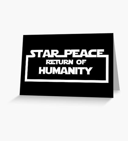 Star Peace Greeting Card
