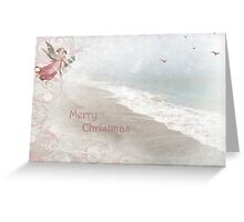 "Angels in Pink ""Merry Christmas"" ~ Greeting Card Greeting Card"