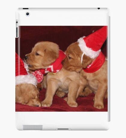 Santa Pups- Max, Buttercup, Rosie iPad Case/Skin