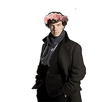 sherlock with flower crown by sherlokian