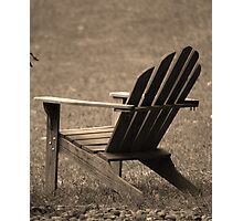 seat for one Photographic Print
