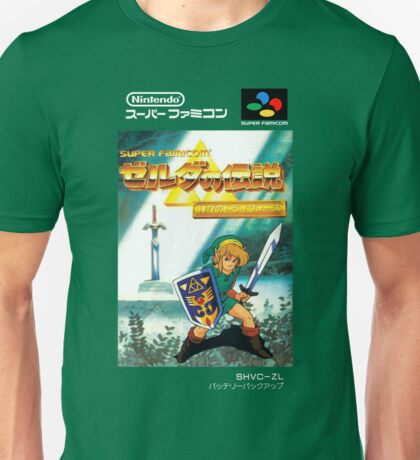 The Legend of Zelda: Triforce of the Gods - A Link to the Past - Japanese Box art Unisex T-Shirt