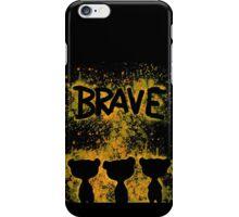 The Brave - Dark Bears  iPhone Case/Skin