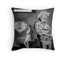 Waiting for a Bus Throw Pillow