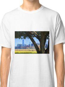 World Trade Center from Ellis Island Classic T-Shirt