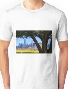 World Trade Center from Ellis Island Unisex T-Shirt