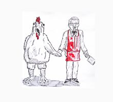 Colonel Sanders with chicken Unisex T-Shirt