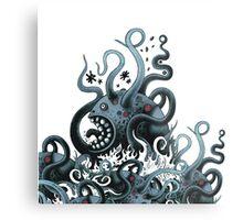 Octoworm (blue version) Metal Print