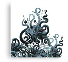 Octoworm (blue version) Canvas Print