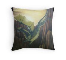 Light Dragon Throw Pillow