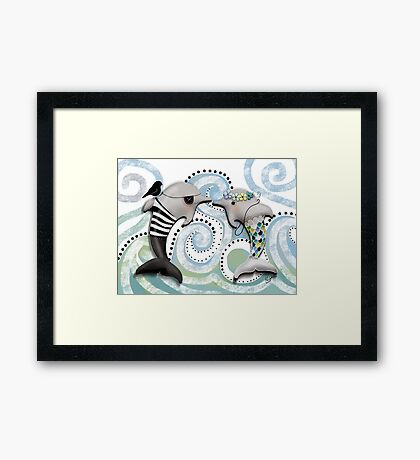 The Pirate and The Mermaid Framed Print