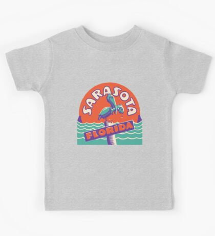 Sarasota Florida Vintage Travel Decal Kids Tee