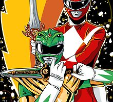 Red/Green Ranger  by averagejoeart