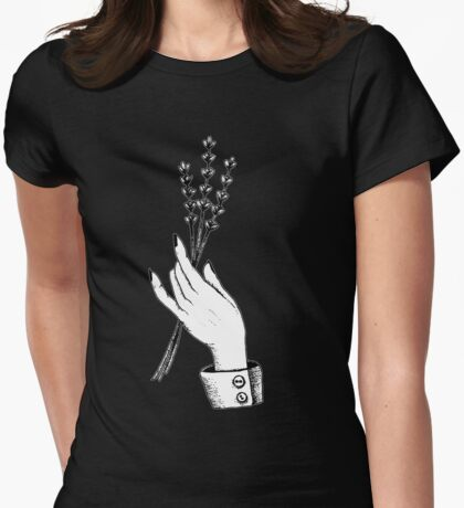 lavender hand Womens Fitted T-Shirt