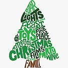 Christmas Tree Lettering by Neil K