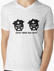 SEIZE THESE BAD BOYS Mens V-Neck T-Shirt