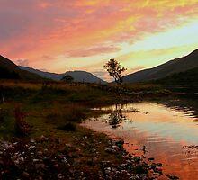 Loch Leven sunset, Scotland by LisaRoberts
