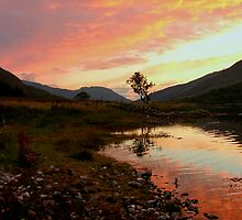 Loch Leven sunset, Scotland by LisaRoberts