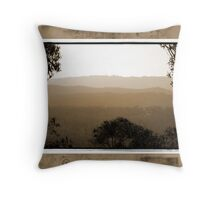 Hazy Sunset Throw Pillow