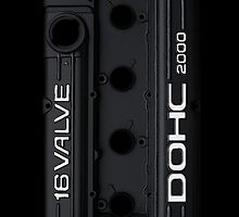 4g63 Valve Cover (iPhone) - Black and White by Hector Flores