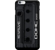 4g63 Valve Cover (iPhone) - Black and White iPhone Case/Skin
