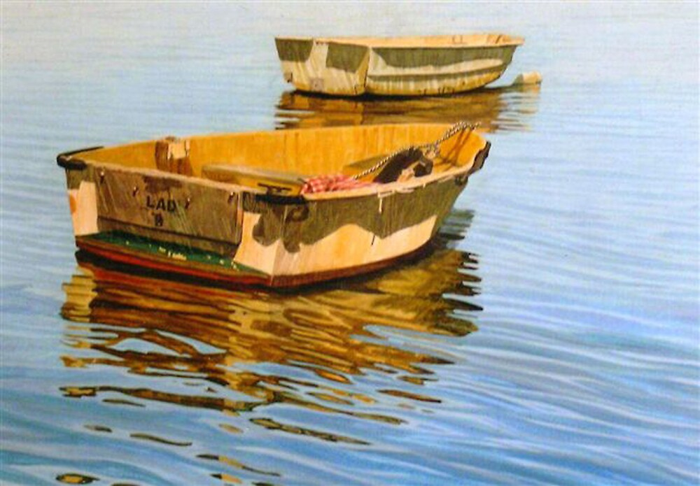 Two dinghies by Freda Surgenor
