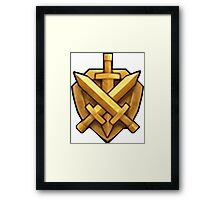 Clash LEAGUE Framed Print