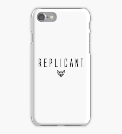 Blade Runner - Replicant - Black Clean iPhone Case/Skin