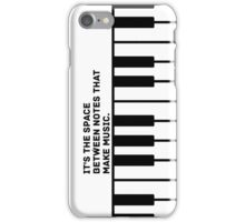 The Space Between Notes iPhone Case/Skin