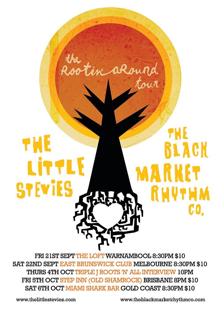 Rootin' Around Tour Poster by thelittlestevies