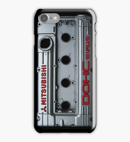 4g63 MITSUBISHI Valve Cover -IPHONE -SILVER/RED iPhone Case/Skin