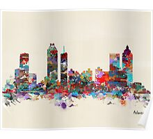 Atlanta city watercolor Poster