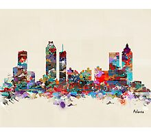 Atlanta city watercolor Photographic Print