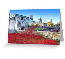 The Wave Tower of London Poppies Greeting Card