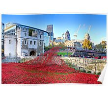 The Wave Tower of London Poppies Poster