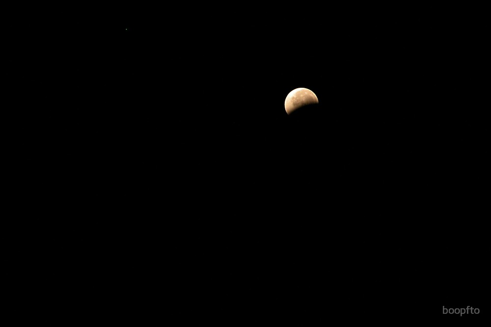 August 28th Lunar Eclipse-About half uncovered again by boopfto