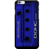 Mitsubishi Valve Cover 4G63 Blue (iPhone) iPhone Case/Skin