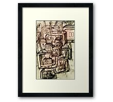 Saturday Morning Cartoons 2: TV Print Framed Print