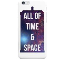"Doctor Who TARDIS - ""All of time and space"" iPhone Case/Skin"