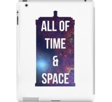 "Doctor Who TARDIS - ""All of time and space"" iPad Case/Skin"