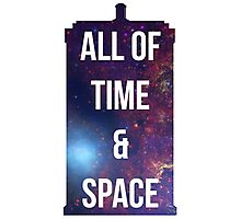 """Doctor Who TARDIS - """"All of time and space"""" Photographic Print"""