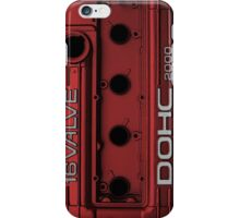 Mitsubishi Valve Cover 4G63 Red (Samsung Case) iPhone Case/Skin