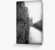 Castle wall Greeting Card
