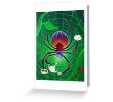 Spider Snack Greeting Card