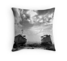 Boats in Barbados Throw Pillow